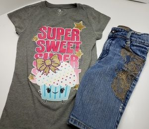 Bundle Girls Shirt and Capris size 5 and 6